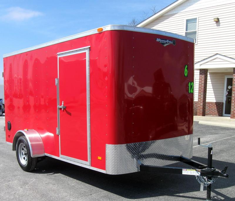 6'x12' Hero Economy Enclosed Cargo Trailer with Double Doors