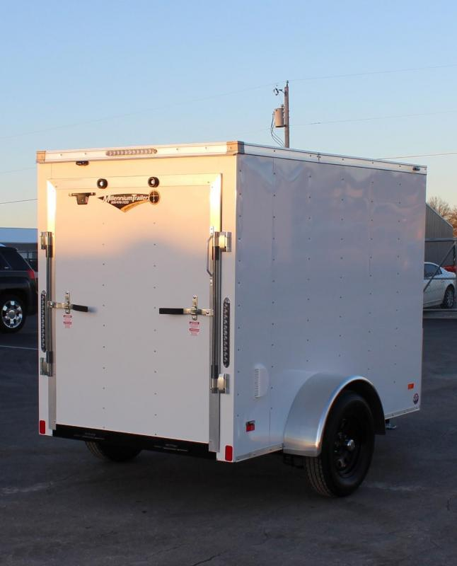 "2021 5' x 8' Scout Enclosed Cargo Trailer w/Ramp Door 6"" Extra High"