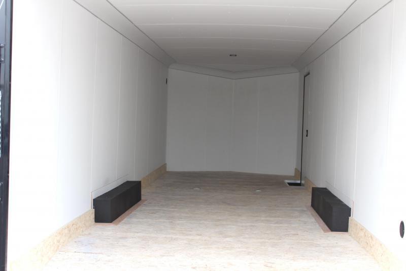 BLACK-OUT PKG  2021 28' Transport Slant V  Nose White Walls & Ceiling & Alum Wheels