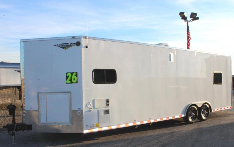 <b>ORDERS ONLY</b> 26' Millennium Auto Master Enclosed Trailer Toy Hauler w/Living Quarters