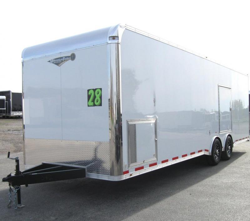 2020 28' Millennium Platinum Trailer Escape Door 2/6k Axles