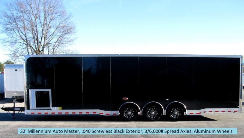 32' Millennium Auto Master Spread Triaxle Trailer/ Super Nice Interior