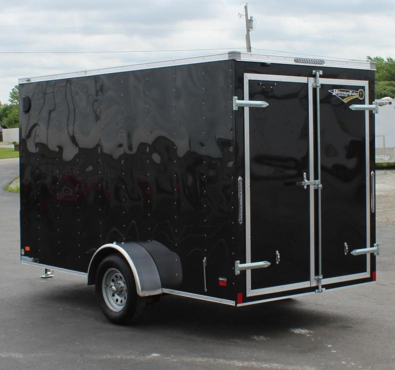 "<b>DBL REAR DOORS w/6"" EXTRA HIGH</b> 2020 6'x12' Scout Black Enclosed Cargo Trailer w/Free Options"