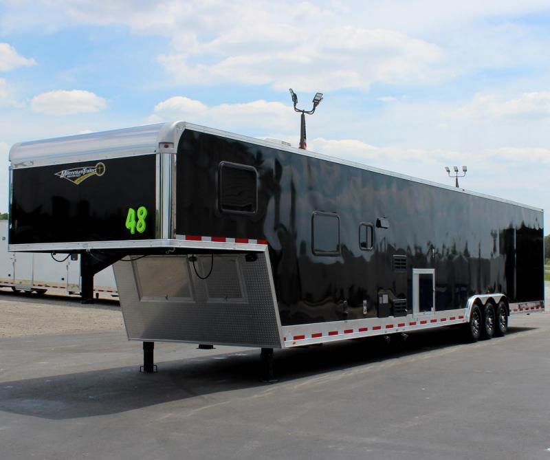 "<b>IN PRODUCTION</b> 2022 48' Millennium Race Trailer w/12'XE Living Quarters Sofa and Dinette 27'6"" Garage Area"