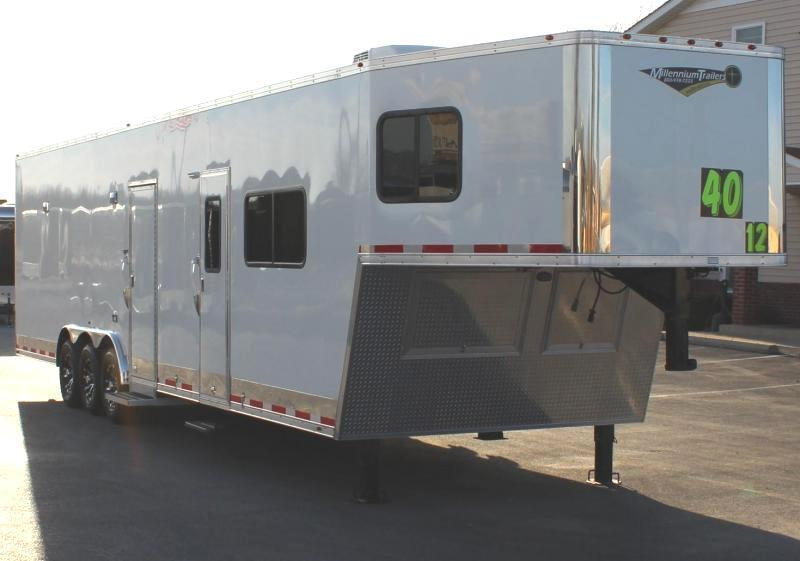 <b>JANUARY CLEARANCE</b>  2021 40' Millennium SIlver w/12' XE+8' Living Quarters
