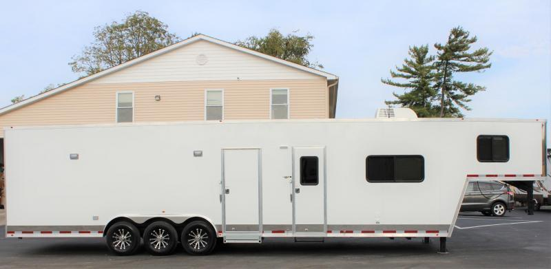 <b>IN PROCESS SPECIAL</b>  2022 40' Millennium Race Car Trailer Gooseneck  w/12' Sofa Living Quarters/King Size Bath