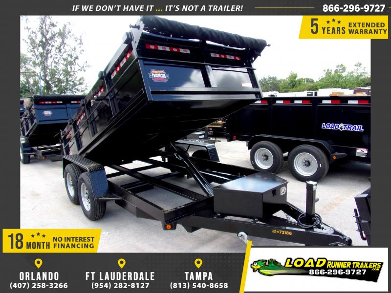 *115862* 6x12 5 TON Dump Trailer |LRT Trailers & Dumps 6 x 12