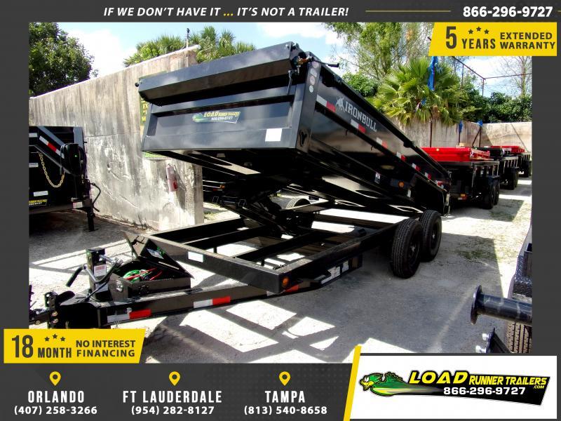 *114413* 7x16 Dump Trailer |LRT Tandem Axle Trailers 7 x 16