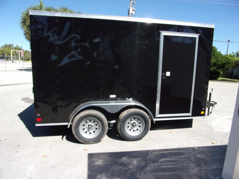 *115016* 7x12 Enclosed Cargo Trailer |LRT Tandem Axle Trailers 7 x 12