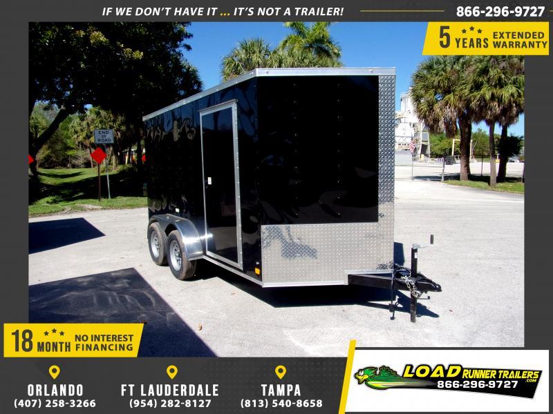*115016* 7x12 Enclosed Cargo Trailer |LRT Tandem Axle Trailers 7 x 12