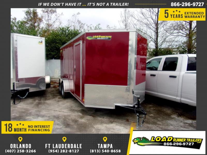 *113207* 7x16 Enclosed Cargo Trailer |LRT Tandem Axle Trailers 7 x 16