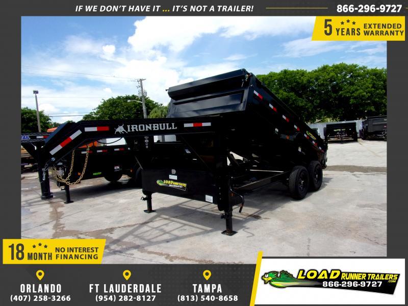 *115639* 7x14 Gooseneck Dump Trailer |LRT Tandem Axle Trailers 7 x 14