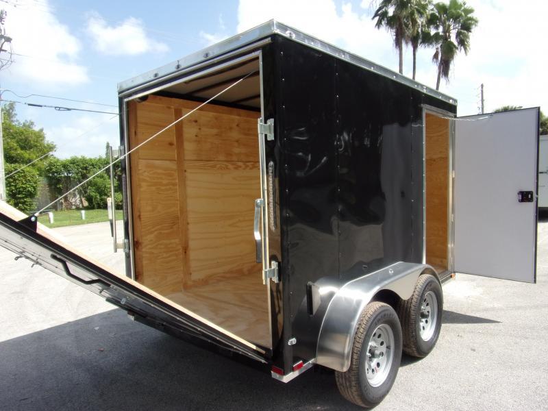 *117793* 6x10 Enclosed Cargo Trailer  LRT Tandem Axle Trailers 6 x 10
