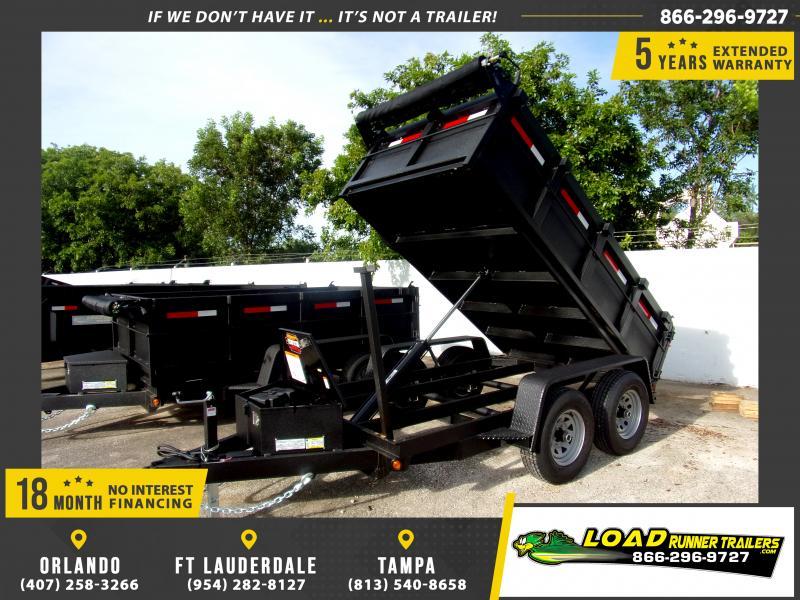 "*111353* 5x10 7K Dump Trailer W/27"" Sides 5 x 10"