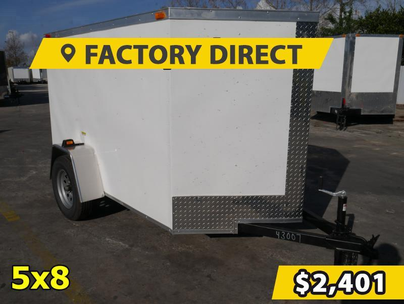 *FD58* 5x8 FACTORY DIRECT!| Enclosed Cargo Trailer |LRT Trailers 5 x 8