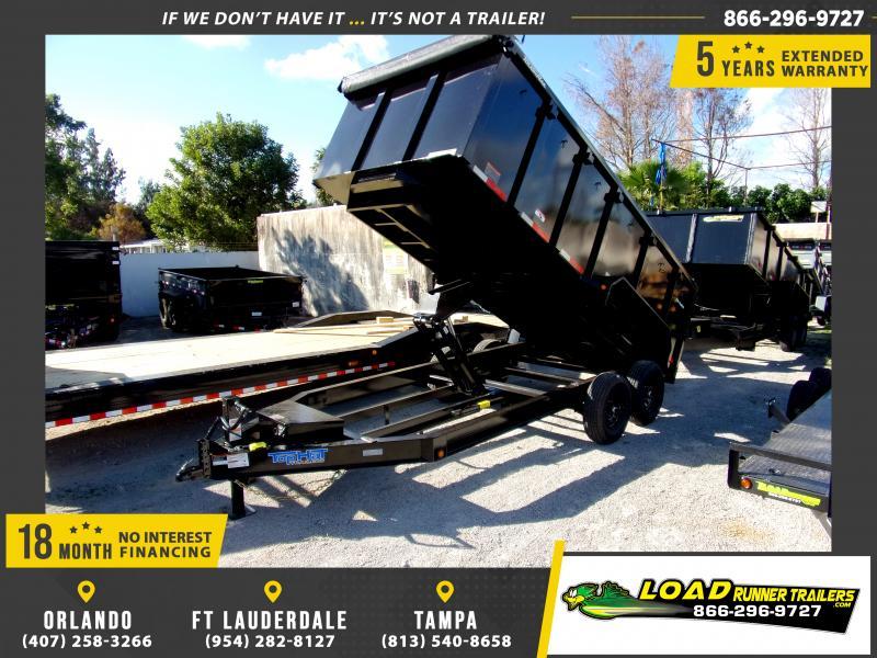 *114869* 7x16 Dump Trailer |LRT Tandem Axle Trailers 7 x 16