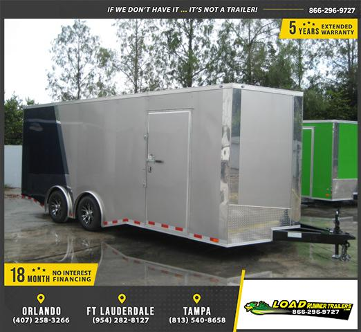 *E11C* 8.5x20 Enclosed Cargo Trailer Car Hauler 8.5 x 20 | EV8.5-20T5TS-R