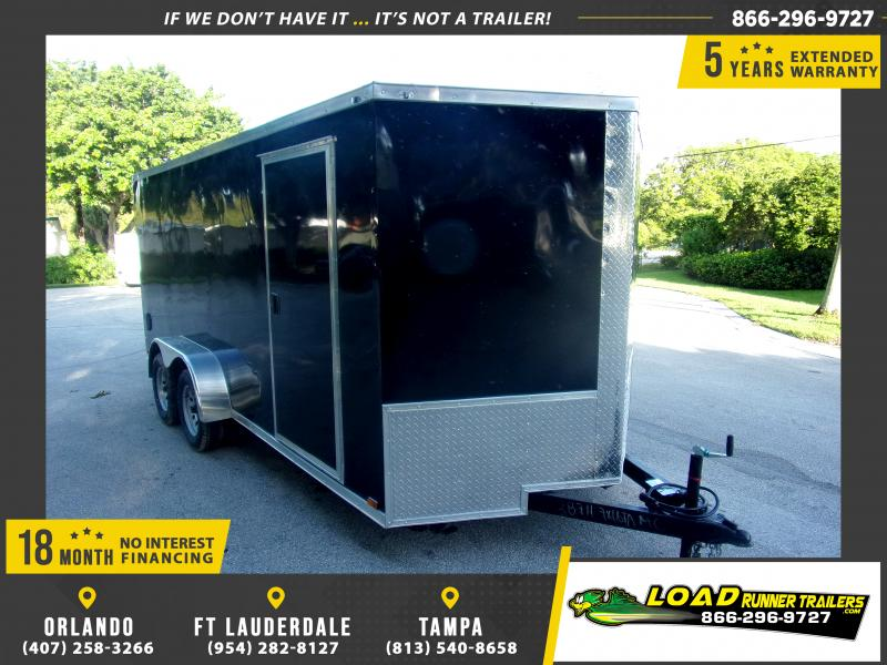 *117582* 7x16 Enclosed Cargo Trailer |LRT Tandem Axle Trailers 7 x 16