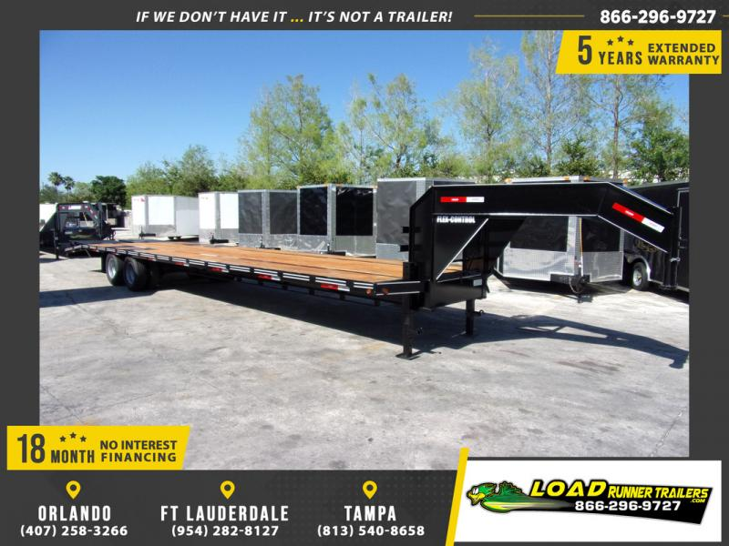 *109136* 8.5x36 Gooseneck Flatbed Deck Over Trailer |LRT Haulers & Trailers 8.5 x 36