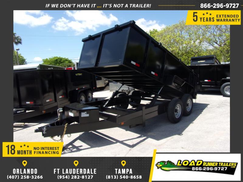 *114987* 7x14 Dump Trailer |LRT Tandem Axle Trailers 7 x 14