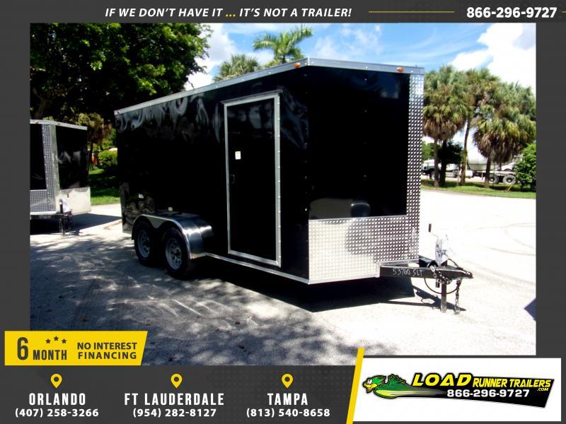 *117625* 7x14 Enclosed Cargo Trailer |LRT Tandem Axle Trailers 7 x 14