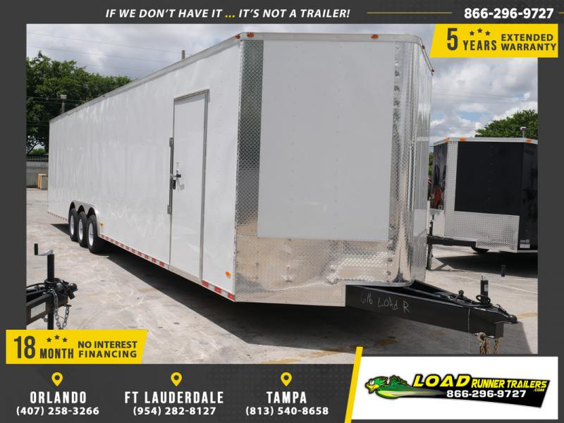 *EV36* 8.5x36 Enclosed Cargo Trailer |21K Car Trailers 8.5 x 36 | EV8.5-36TT5-R