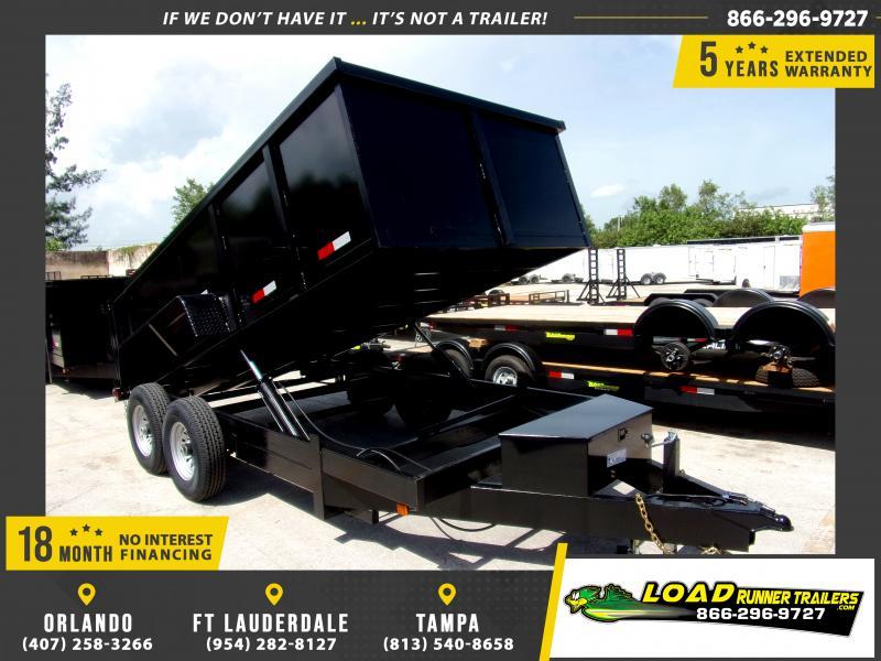 *116558* 7x14 Dump Trailer  LRT Tandem Axle Trailers 7 x 14