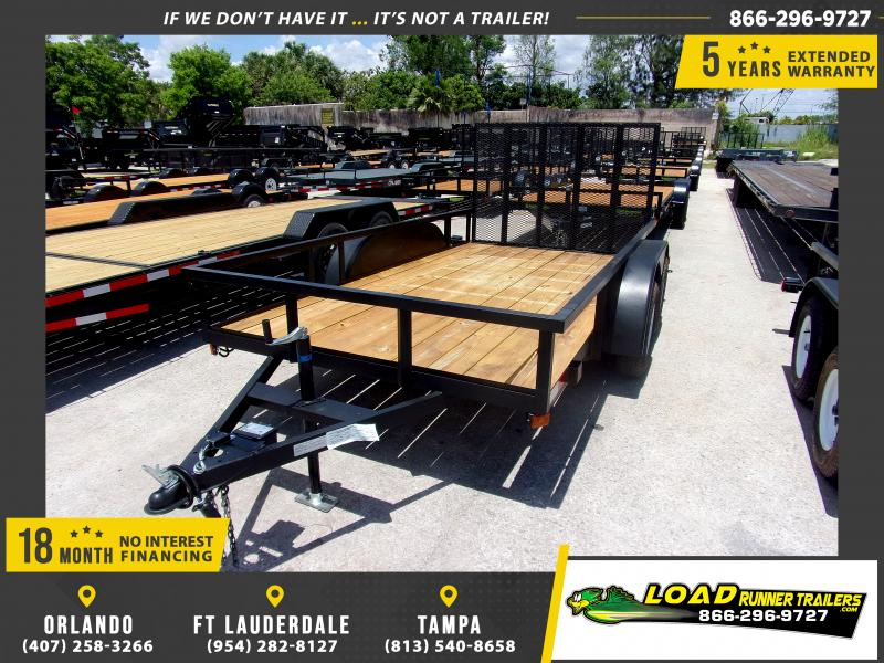 *114748* 6x12 Tandem Axle Utility Trailer With Brakes 6 x 12