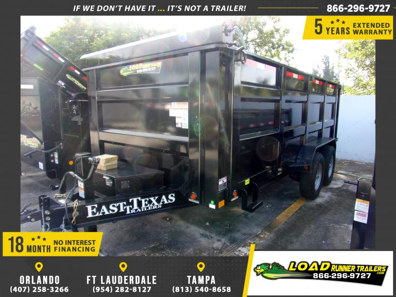 *DB74* 7x16 Dump Trailer |LRT Tandem Axle Trailers 7 x 16 | D83-16T7-48S
