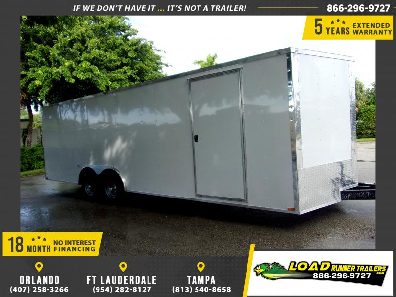 *111882* 8.5x24 Enclosed Cargo Trailer |LRT Tandem Axle Trailers 8.5 x 24