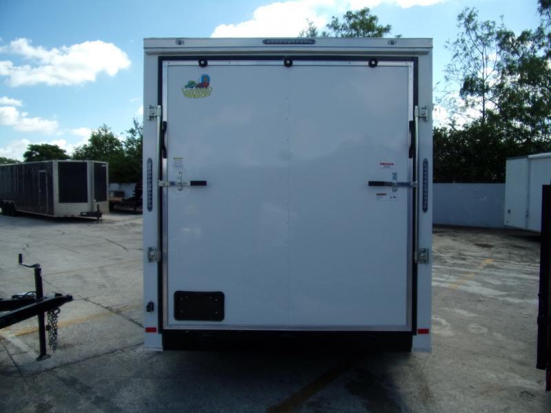 *109894* 7x14 Enclosed Cargo Trailer |LRT Tandem Axle Trailers 7 x 14