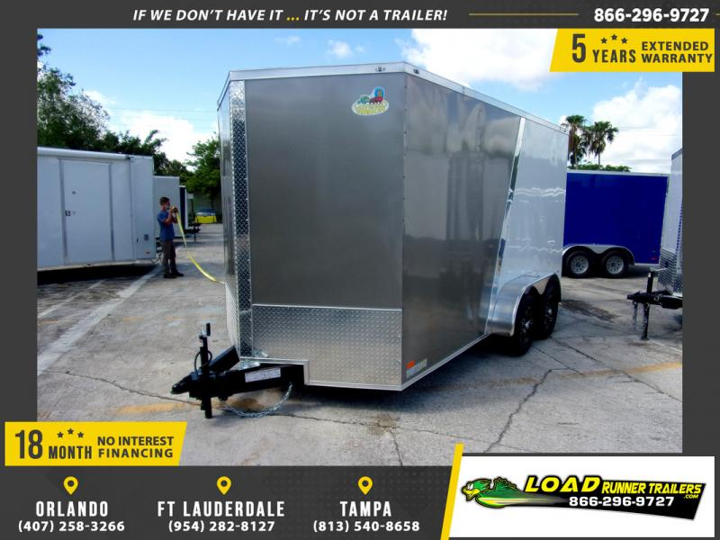 *109894* 7x14 Enclosed Cargo Trailer |LRT Tandem Axle Trailers 7 x 14