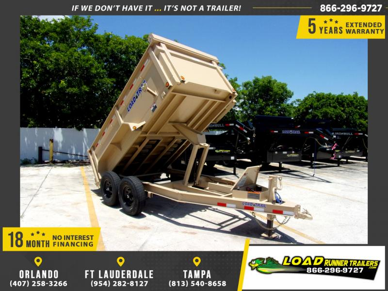 *110268* 6x12 5 TON  Load Trail Dump Trailer |LRT Trailers 6 x 12