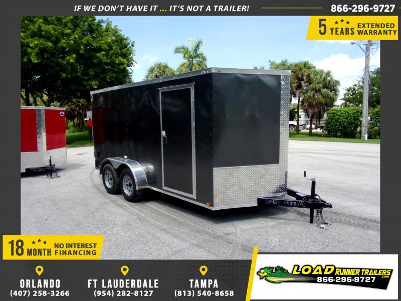 *117353* 7x14 Enclosed Cargo Trailer |LRT Tandem Axle Trailers 7 x 14