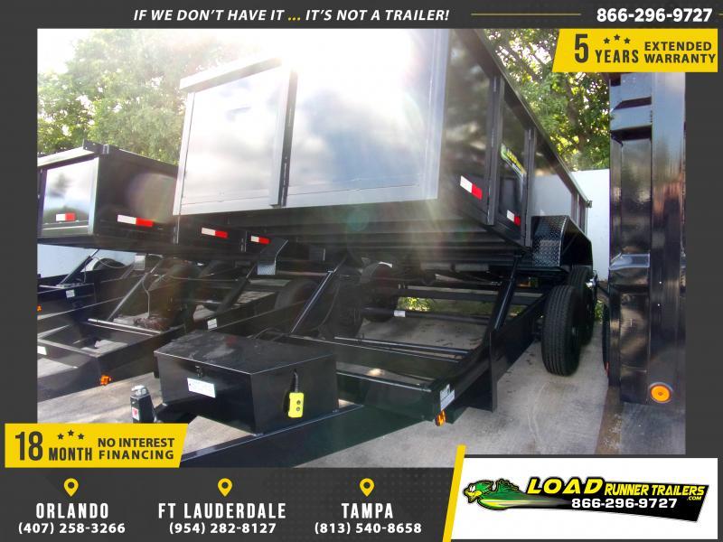 *118007* 7x14 Dump Trailer |LRT Tandem Axle Trailers 7 x 14