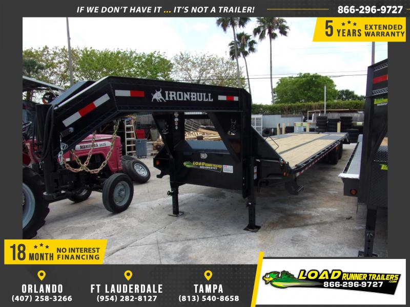 *114890* 8.5x36 Gooseneck Flatbed Deck Over Trailer |LRT Haulers & Trailers 8.5 x 36