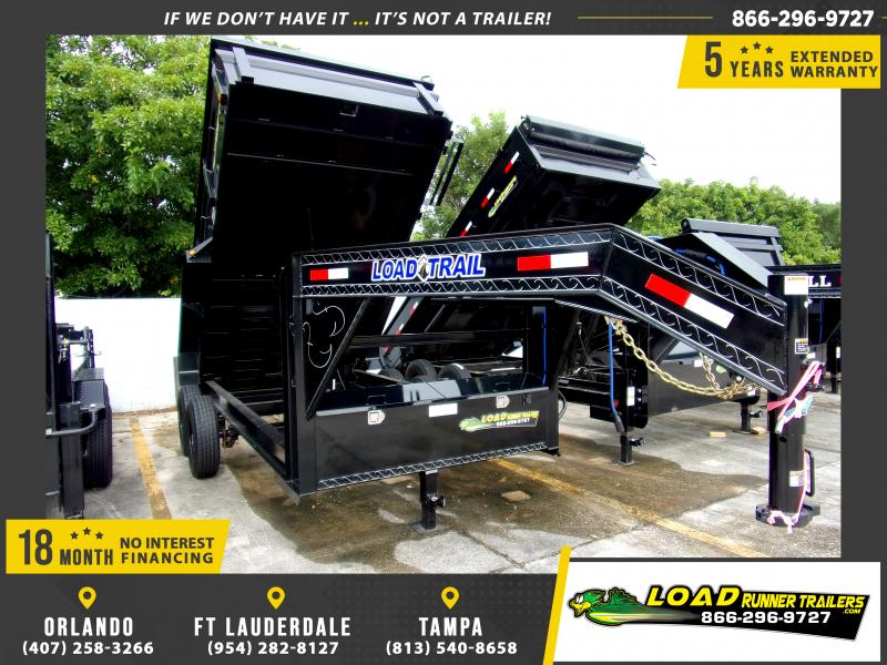 *115070* 7x14 Gooseneck Dump Trailer  LRT Tandem Axle Trailers 7 x 14