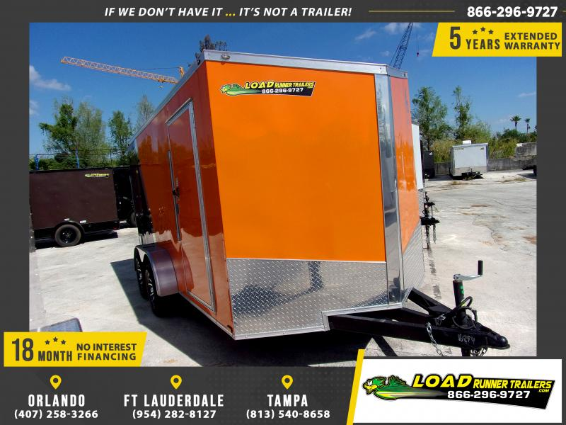 *114668* 7x14 Enclosed Cargo Trailer |LRT Tandem Axle Trailers 7 x 14