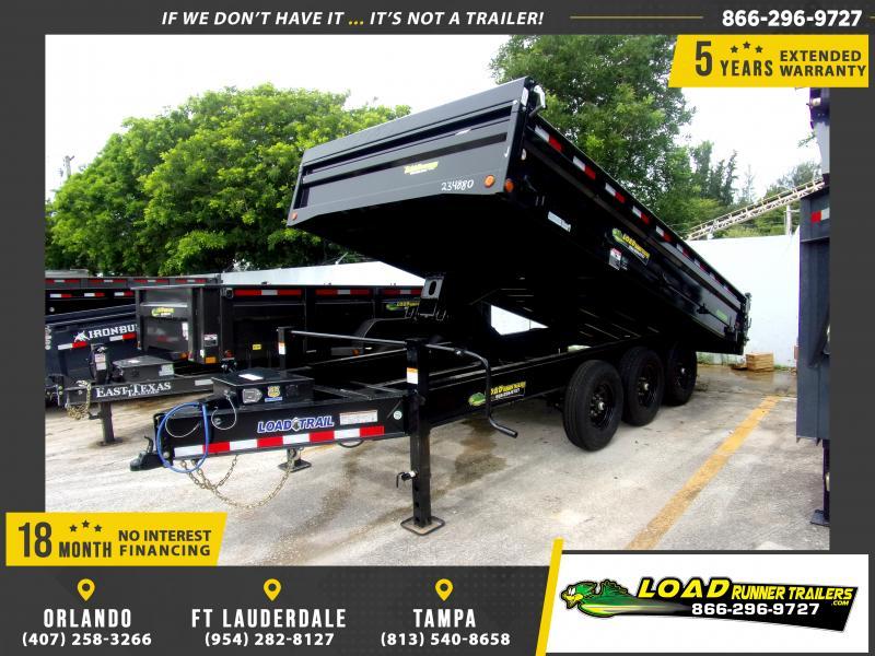 *118038* 8x16 Dump Trailer  LRT Tandem Axle Trailers 8 x 16