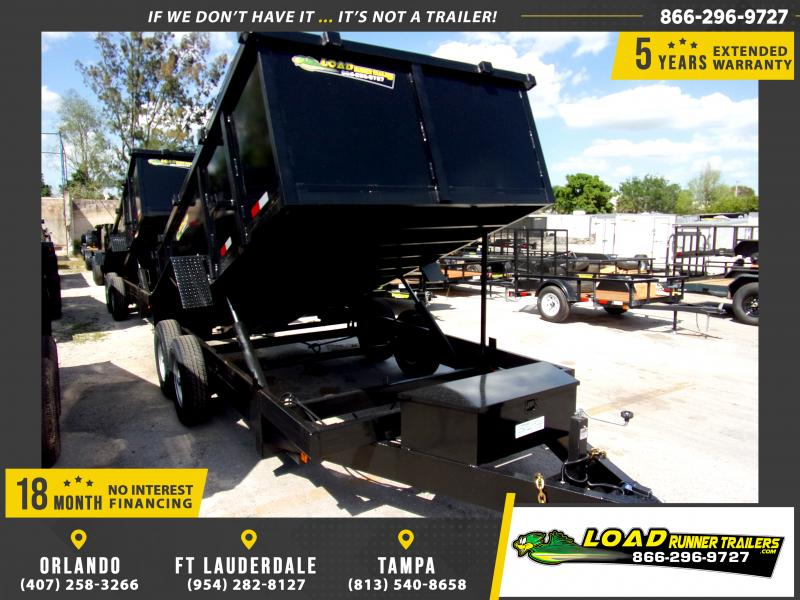 *114561* 7x14 Dump Trailer |LRT Tandem Axle Trailers 7 x 14