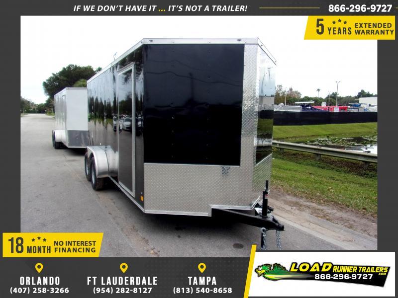 *E9G* 7x16 Enclosed Cargo Trailer |LRT Tandem Axle Trailers 7 x 16 | EV7-16T3-R