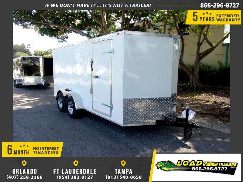 *113439* 7x14 Enclosed Cargo Trailer |LRT Tandem Axle Trailers 7 x 14