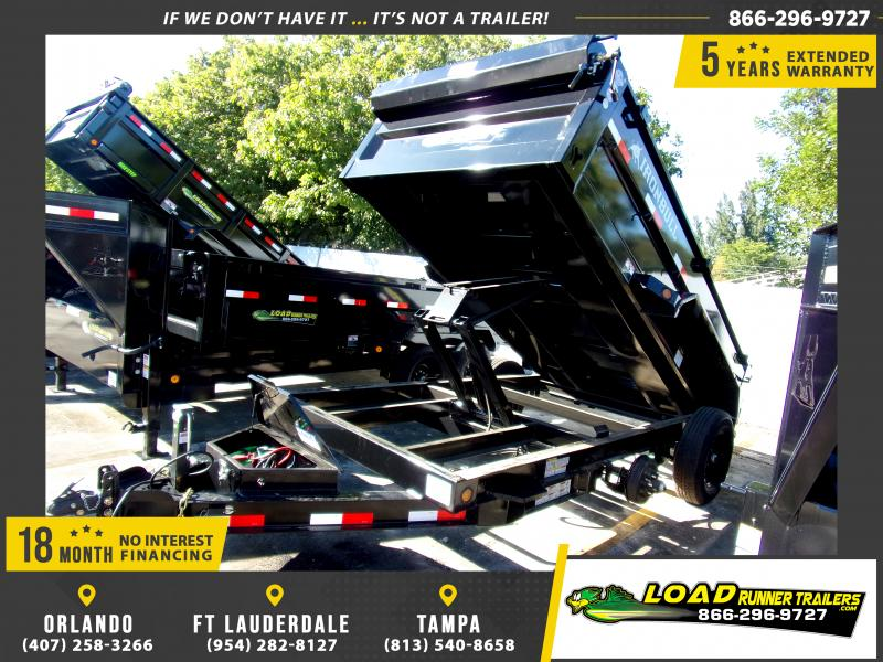 *112703* 6x12 Dump Trailer |LRT Tandem Axle Trailers 6 x 12