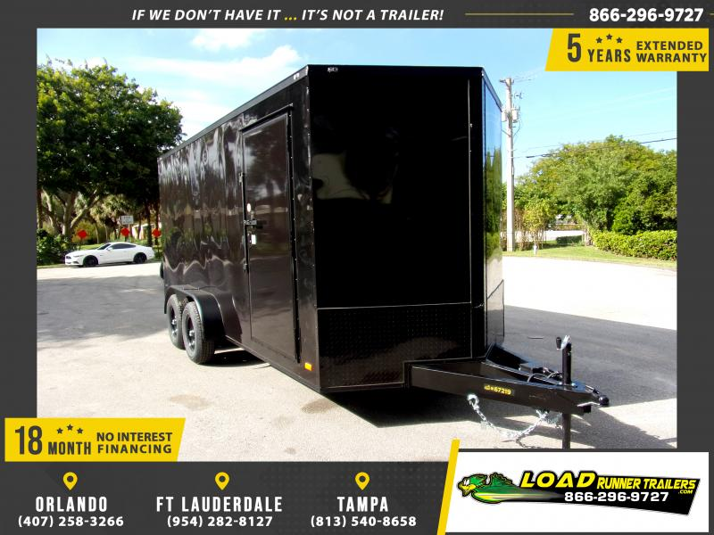 *112846* 7x16 Enclosed Cargo Trailer |LRT Tandem Axle Trailers 7 x 16