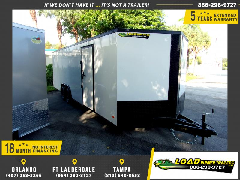 *112349* 8.5x24 Enclosed Cargo Trailer |LRT Tandem Axle Trailers 8.5 x 24