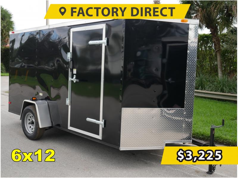 *FD612* 6x12 FACTORY DIRECT!  Enclosed Cargo Trailer  Trailers 6 x 12