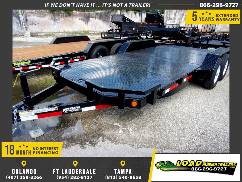 *111564* 7x18 5TON Steel Deck Car Hauler Trailer 7 x 18