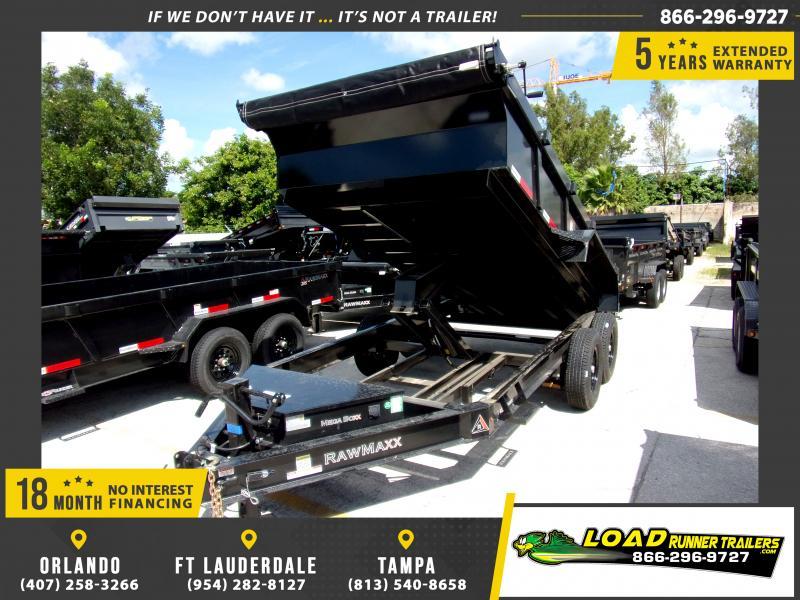 *117347* 7x14 Dump Trailer |LRT Tandem Axle Trailers 7 x 14