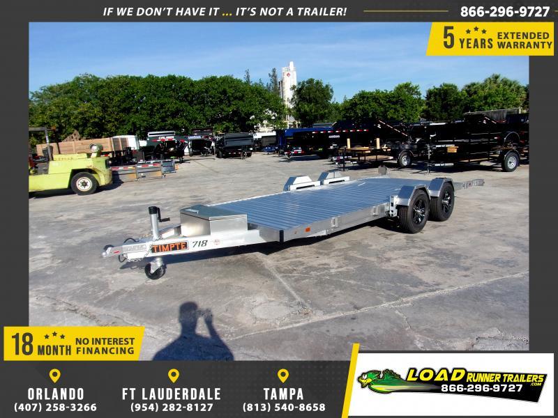 *116895* 7x18 All Aluminum Car Hauler Trailer |LRT Trailers and Haulers 7 x 18
