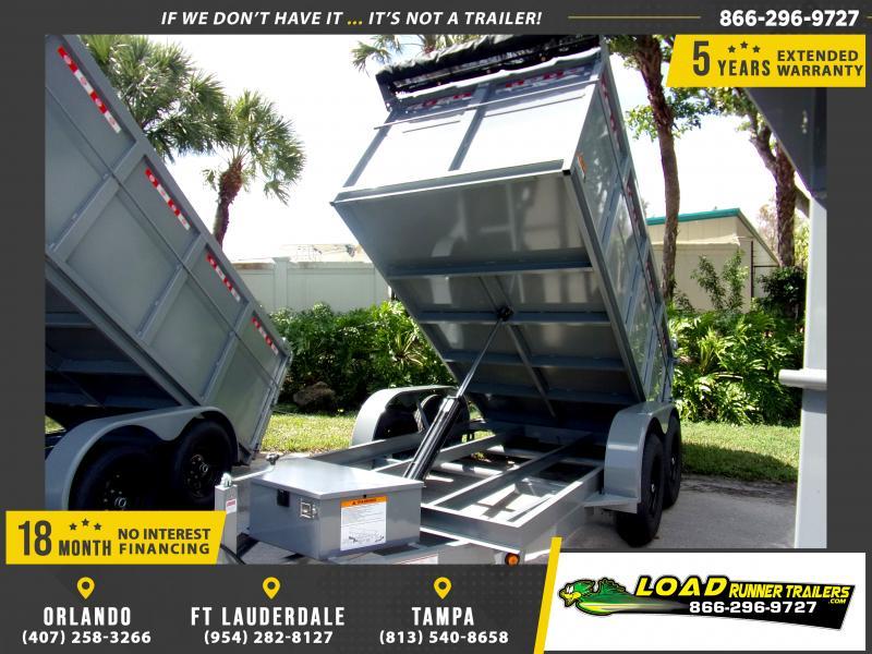 *113863* 6x12 4' Walls Dump Trailer |LRT Dumps and Trailers 6 x 12